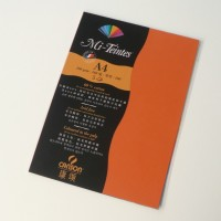 Canson Mi-Teintes A4 Colour Sheets 160gsm - Orange 453 Sketch Pad (Orange, 5 Sheets)