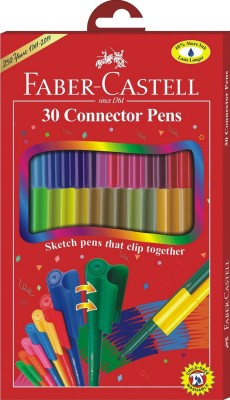 Faber Castell FC Fine Nib Sketch Pens  With Washable Ink (Set Of 1, Red)