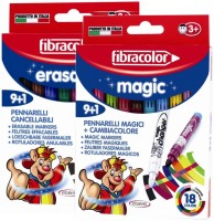 Fibracolor Magic & Erasable Combo Superfine Nib Sketch Pens  With Washable Ink (Set Of 2, White)