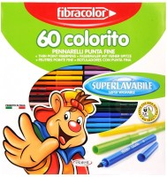 Fibracolor Colorito Superfine Nib Sketch Pens  With Washable Ink (Set Of 1, Multicolors)