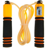 Neo Gold Leaf Jump Rope With Counting Freestyle Skipping Rope (Orange, Pack Of 1)