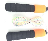 Jhondeal.Com Jumping Freestyle Skipping Rope (Black, Orange, Pack Of 1)
