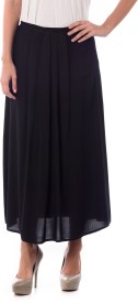 House Of Tantrums Solid Women's Pleated Black Skirt