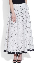 Very Me Geometric Print Women's A-line White Skirt