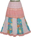 Indiatrendzs Printed Women's A-line Pink Skirt