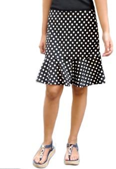 Trendbae Polka Print Women's Peplum Skirt