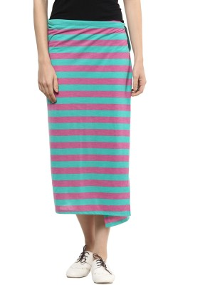 T-Shirt Company Striped Women's Straight Skirt  available at flipkart for Rs.479