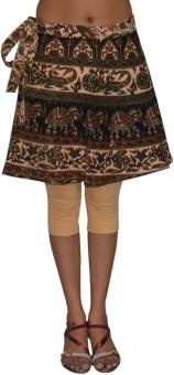 Pezzava Printed Women's Wrap Around Skirt - SKIE364BCJHGG8V6