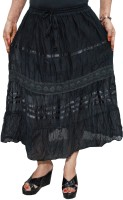 Indiatrendzs Solid Women's A-line Skirt