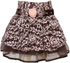 Cutecumber Floral Print Girl's A-line Skirt