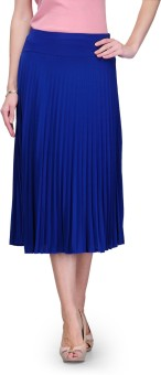Global Republic Solid Women's Pleated Skirt
