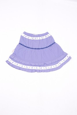 Milou MILOU Solid Baby Girl's Gathered Skirt (Violet)