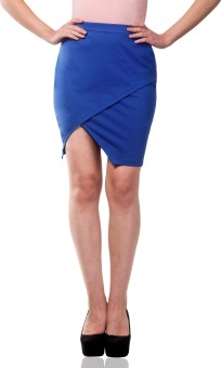 Miss Chase Solid Women's Wrap Around Skirt
