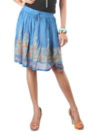Indiankala4u Printed Women's Broomstick Skirt
