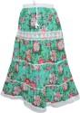 Indiatrendzs Floral Print Women's A-line Green Skirt