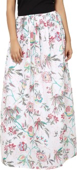 Tops And Tunics Floral Print Women's Regular Skirt