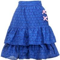 Peaches Self Design Girl's Layered Skirt