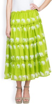 Famous By Payal Kapoor Graphic Print Women's Gathered Skirt