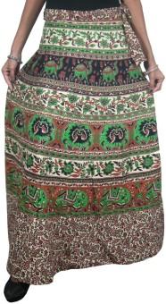 Indiatrendzs Printed Women's Wrap Around Skirt