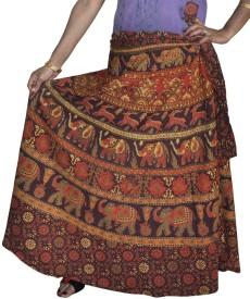 Rangsthali Printed Women's Wrap Around Multicolor Skirt