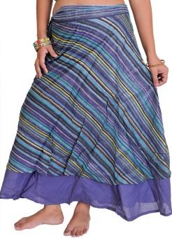 Exotic India Striped Women's Wrap Around Skirt - SKIE69ZRXE3YRFXH