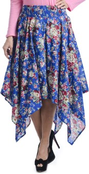 Bohemian You Floral Print Women's Asymmetrical Skirt