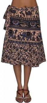 Pezzava Printed Women's Wrap Around Skirt - SKIE355ZCK8TZGHB