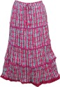 Indiatrendzs Printed Women's Regular Pink Skirt