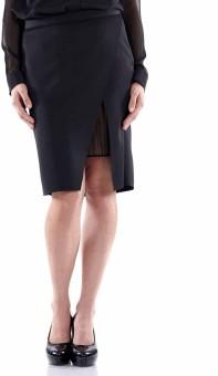 Fuziv Solid Women's Pencil Skirt