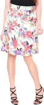 Lemon Chillo Floral Print Women's A-line Skirt - SKIE847BRUWGDYYY