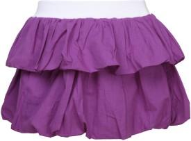 Cool Quotient Self Design Baby Girl's Regular Purple Skirt