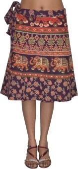 Pezzava Printed Women's Wrap Around Skirt - SKIE43Z3F7YSWKEE