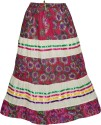 Indiatrendzs Floral Print Women's A-line Pink Skirt