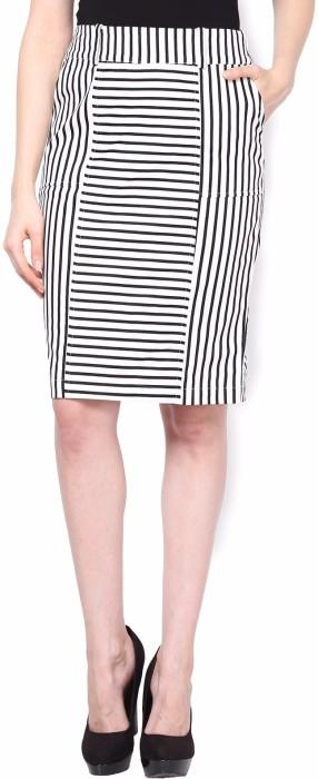 Kaaryah Striped Women's Pencil Skirt