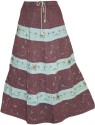 Indiatrendzs Printed Women's A-line Maroon Skirt