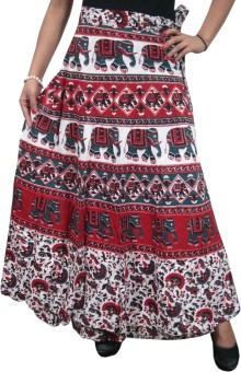 Indiatrendzs Animal Print Women's Wrap Around Skirt