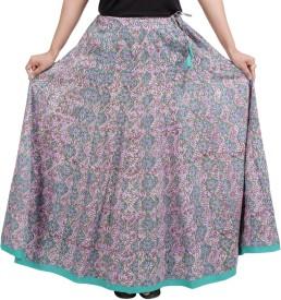 Gurukripa Shopee Self Design Women's A-line Multicolor Skirt