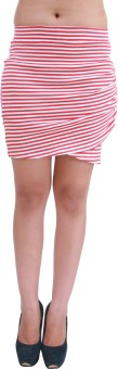 Hypernation Striped Women's Skirt - SKIEYPEANZZHNSJF