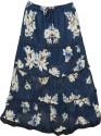 Indiatrendzs Printed Women's Regular Multicolor Skirt