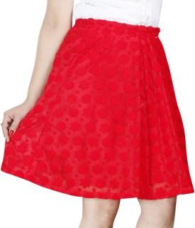 H&F Embroidered Women's Regular Skirt
