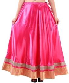 NAVYA CREATIONS Printed Women's Straight Pink Skirt