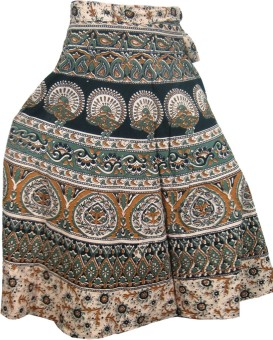 Indiatrendzs Animal Print Women's Tiered Skirt