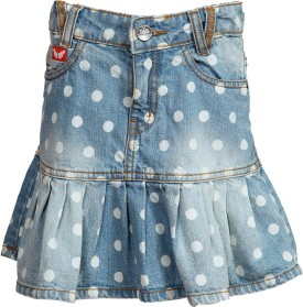 Tales & Stories Polka Print Girl's Pleated Skirt