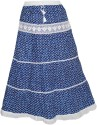 Indiatrendzs Printed Women's Regular Blue Skirt