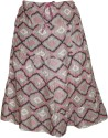 Indiatrendzs Printed Women's A-line Grey Skirt