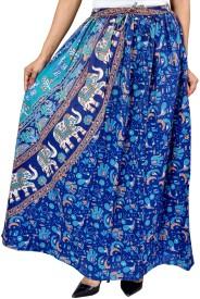 Jhoomar Printed Women's, Girl's Straight Multicolor Skirt