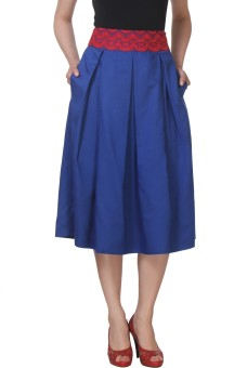 Beau Cuts Embroidered Women's Pleated Skirt