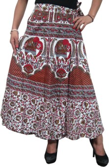 Indiatrendzs Printed Women's Wrap Around Skirt