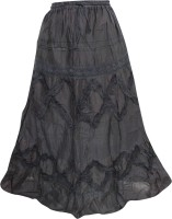 Indiatrendzs Self Design Women's A-line Skirt