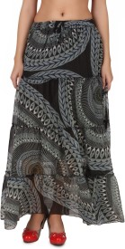 One Femme Printed Women's Tiered Skirt